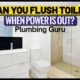 Can You Flush Toilet When Power Is Out