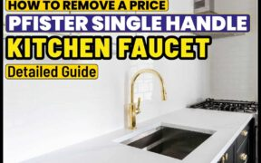 How to remove a price Pfister single handle kitchen faucet