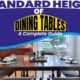 Standard Height of Dining Tables